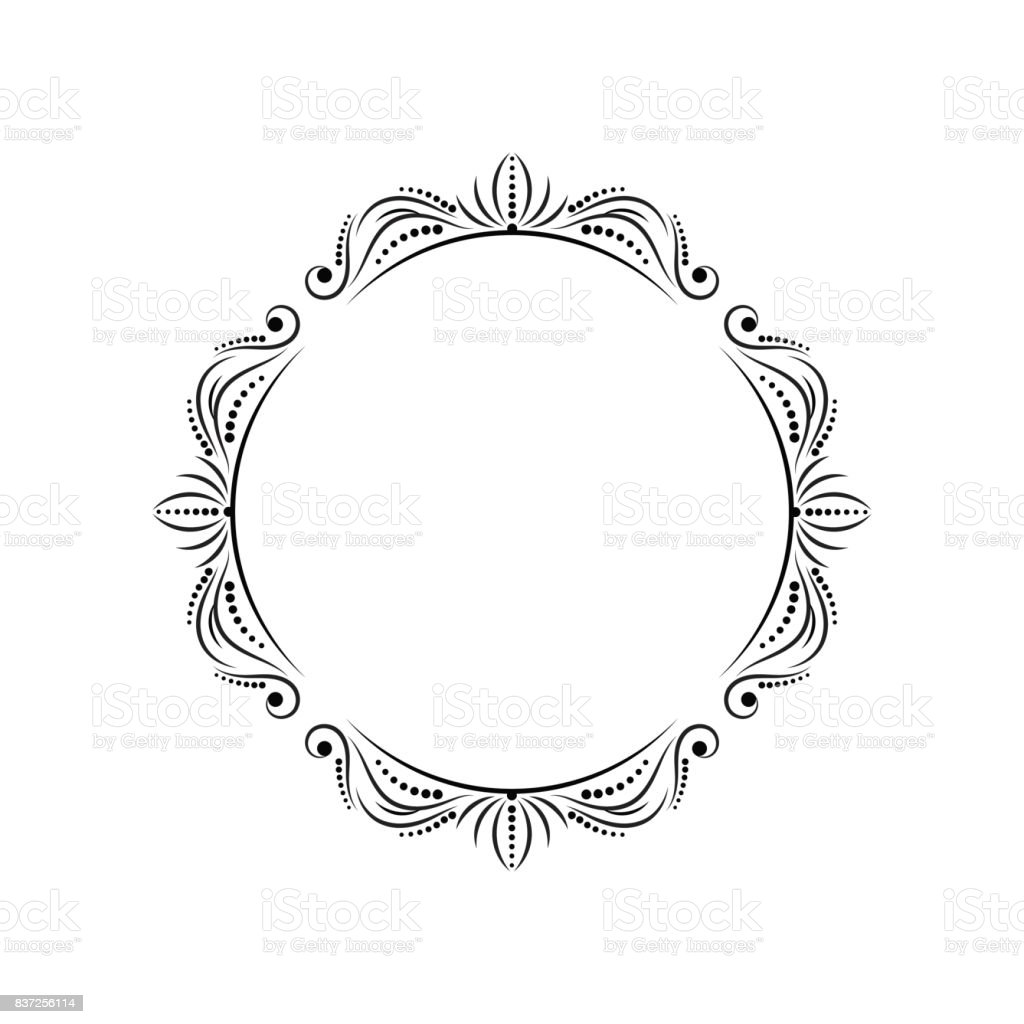 Round Stylish Vintage Elegant Frame Stock Vector Art & More Images ...