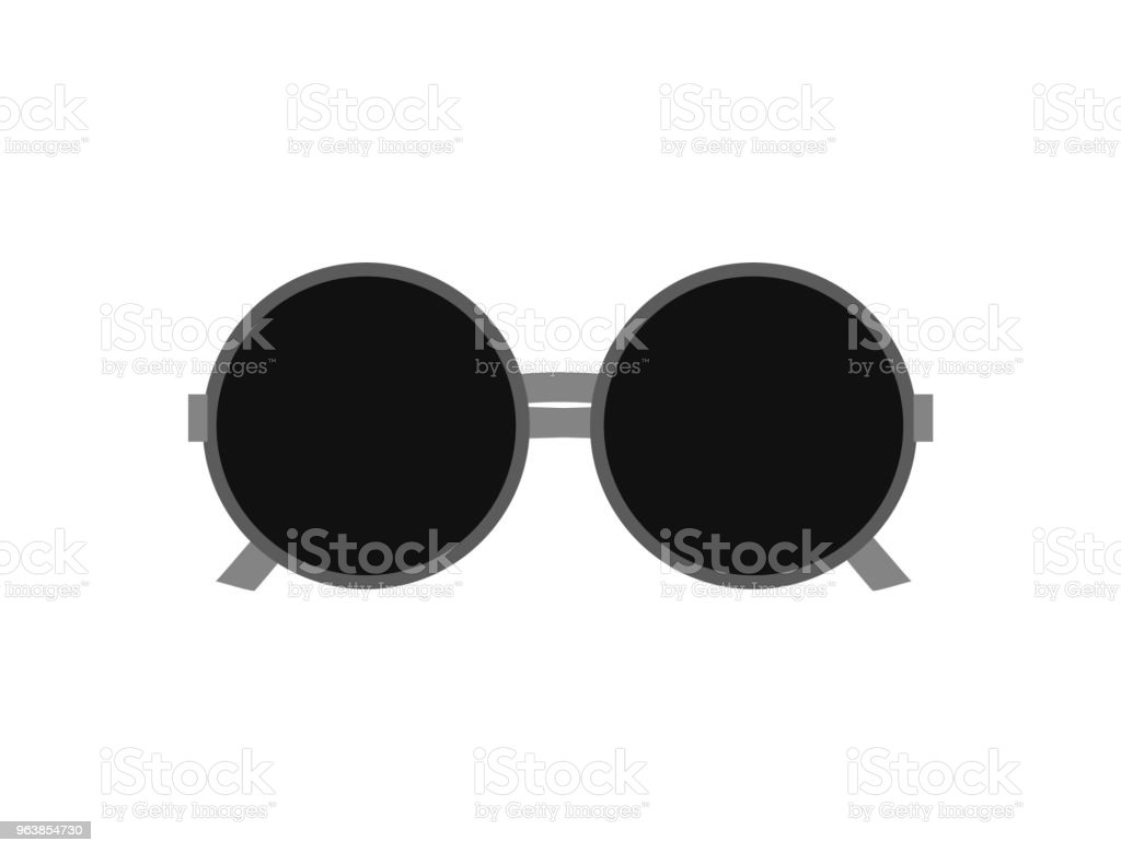 Round sunglasses. Isolated on white background. Vector illustration. - Royalty-free Circle stock vector
