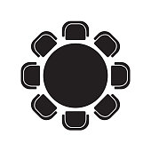 round table and chairs icon