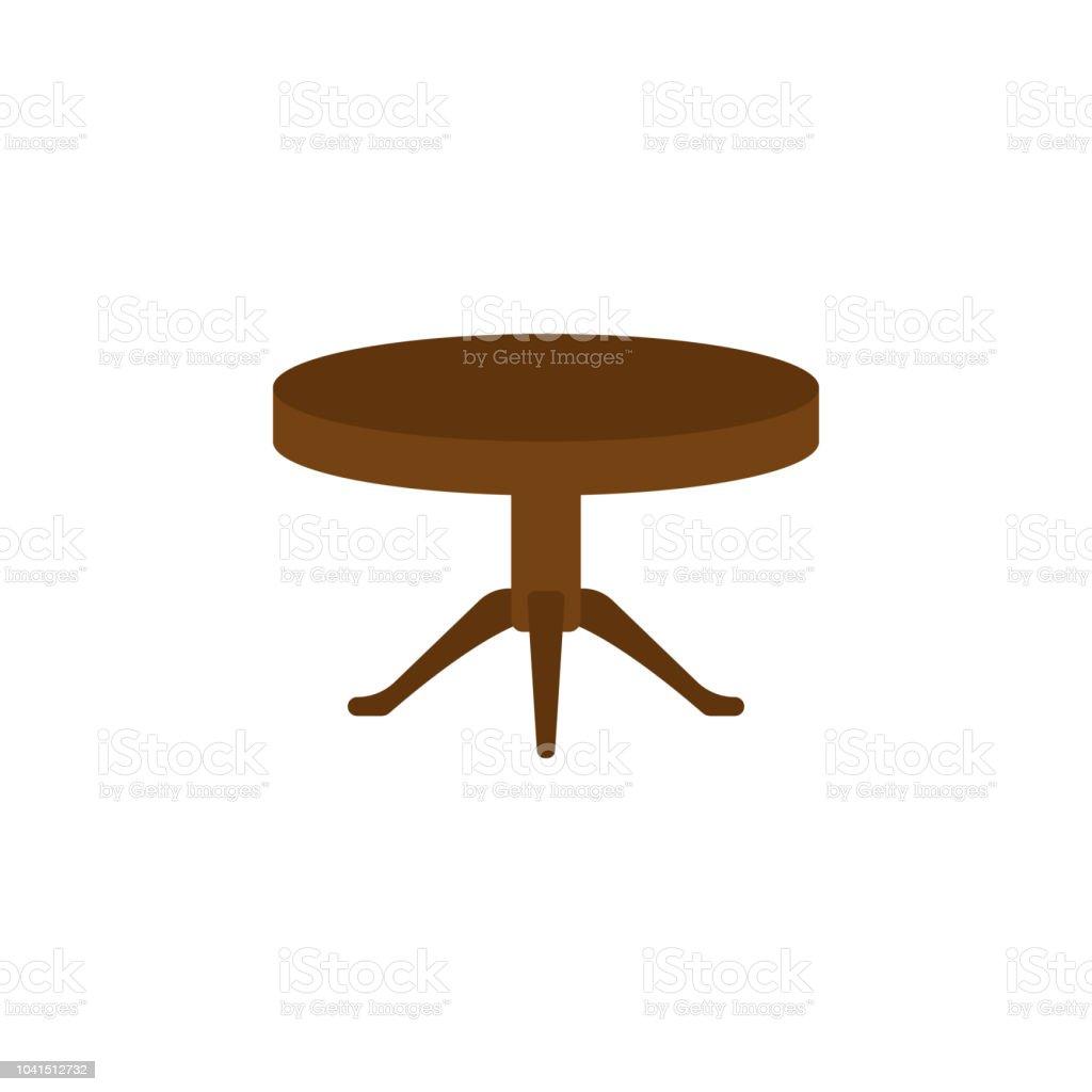 Runder Tisch Flach Symbol Element Der Möbel Farbiges Symbol Für