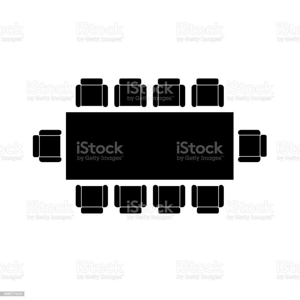round table icon, vector illustration. vector art illustration
