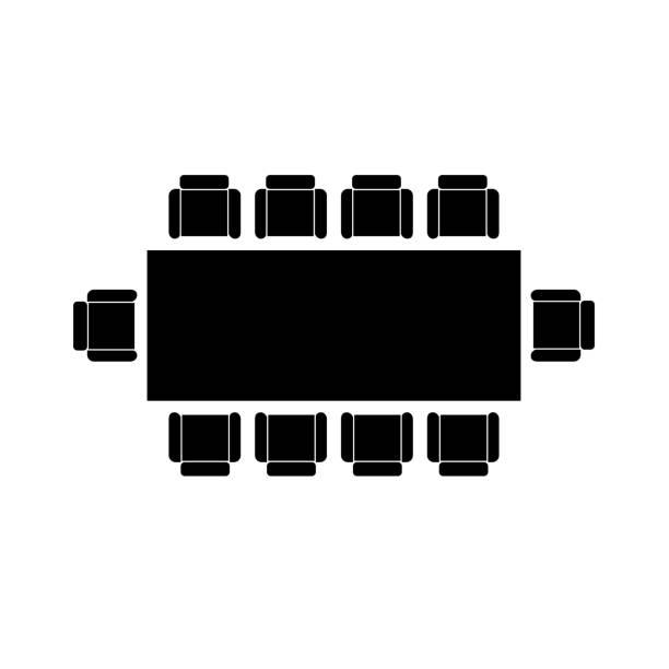 ラウンド テーブル アイコン、ベクトル図です。 - 会議室点のイラスト素材/クリップアート素材/マンガ素材/アイコン素材