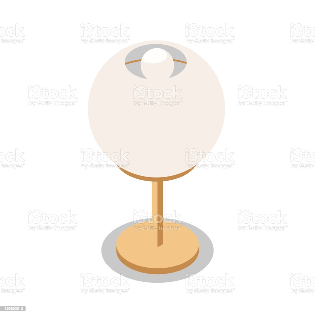 Round table lamp in isometric stock vector art 865860616 istock round table lamp in isometric royalty free stock vector art geotapseo Images