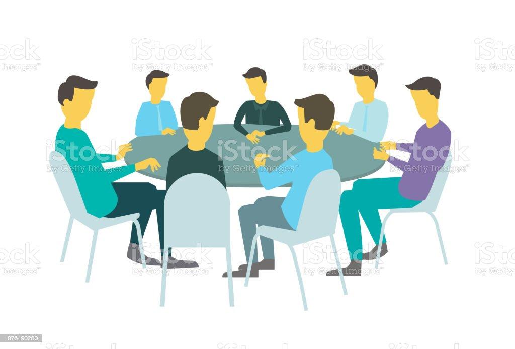 Ronde Tafel Gesprekken.Ronde Tafel Gesprekken Brainstorm Team Mensen Uit Het