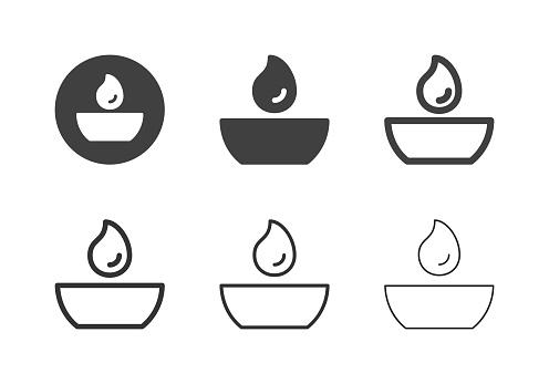 Round Tea Light Icons - Multi Series