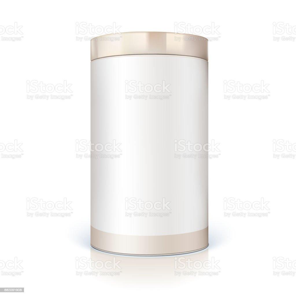 Ilustración de Lata Redonda De Embalaje Para Productos A Granel ...