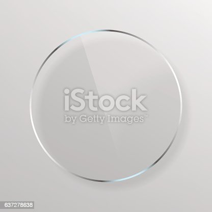 istock Round Transparent Plate 637278638
