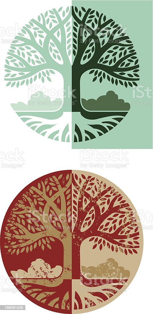Round tree graphic royalty-free round tree graphic stock vector art & more images of circle