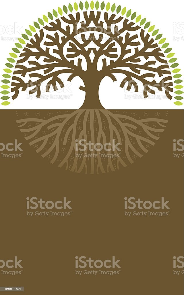 Round tree label royalty-free stock vector art