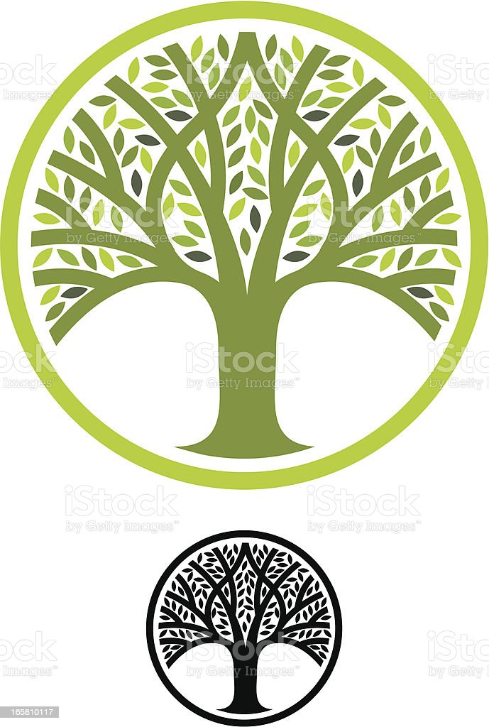 Round tree sign royalty-free round tree sign stock vector art & more images of circle