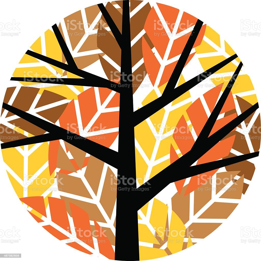 Round tree with many leaves in fall colors royalty-free round tree with many leaves in fall colors stock vector art & more images of 2015