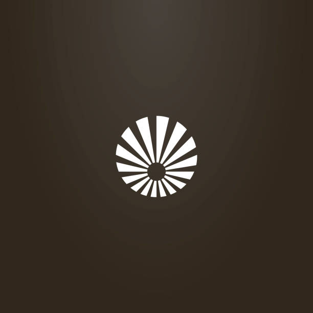 round vector flat art sign of sun with rays around white sign on a black background. round vector flat art sign of sun with rays around corona sun stock illustrations