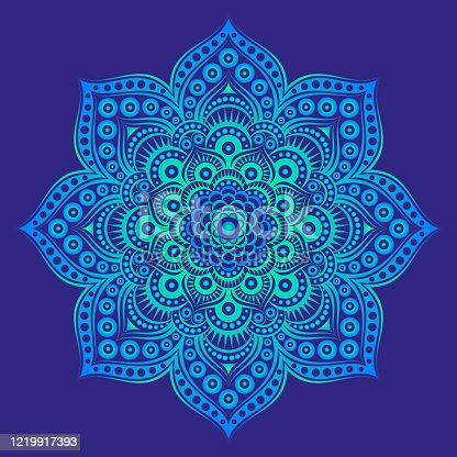 istock Round vector symetric mandala 1219917393