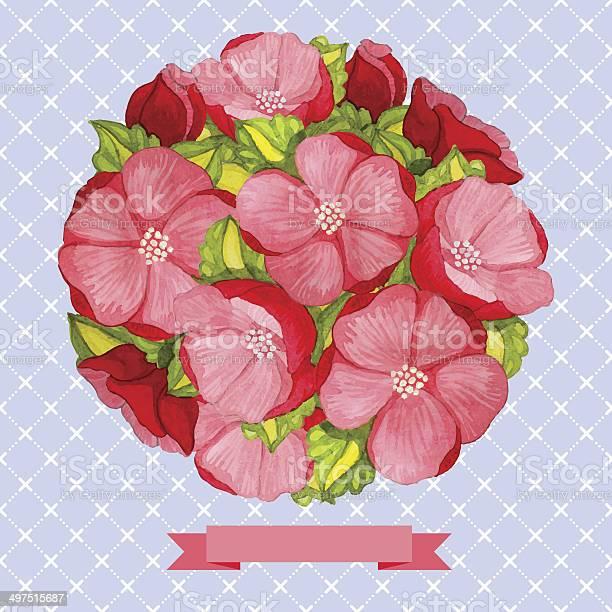 Round vintage watercolor bouquet of pink flowers vector id497515687?b=1&k=6&m=497515687&s=612x612&h=4gt00vtyc3xh4jhqsthm241gpgxvmb2hjar13hc 21u=