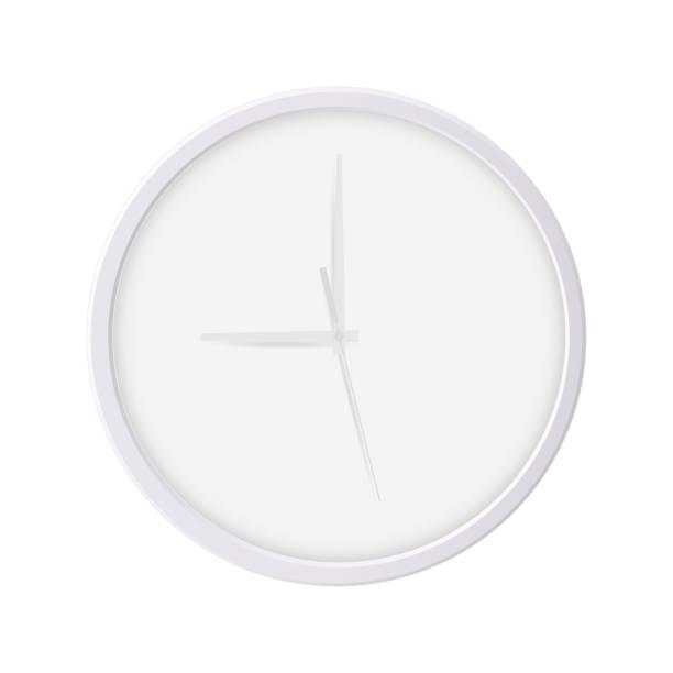 ilustraciones, imágenes clip art, dibujos animados e iconos de stock de reloj de pared redondo aislado sobre fondo blanco - wall clock