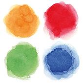Round watercolor spots