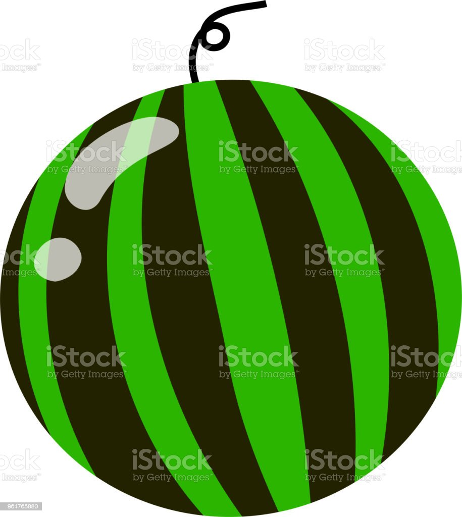 Round watermelon illustration 2 royalty-free round watermelon illustration 2 stock vector art & more images of august