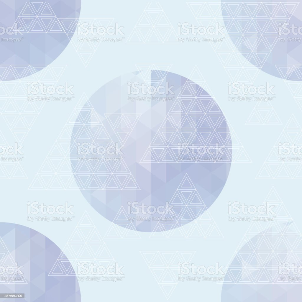 Round with triangles royalty-free stock vector art