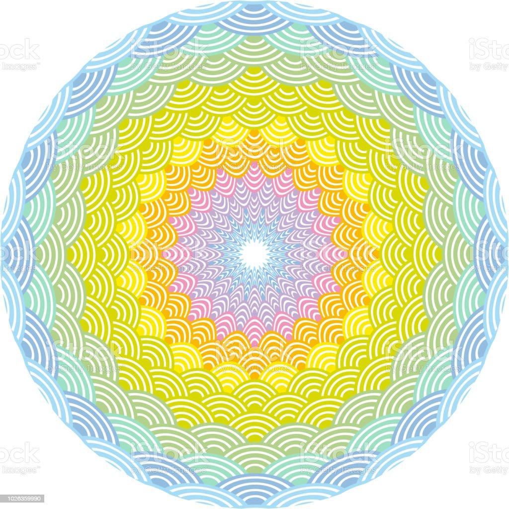 Round Wreath Composition Rainbow Frame Scales Simple Nature Rainbow ...