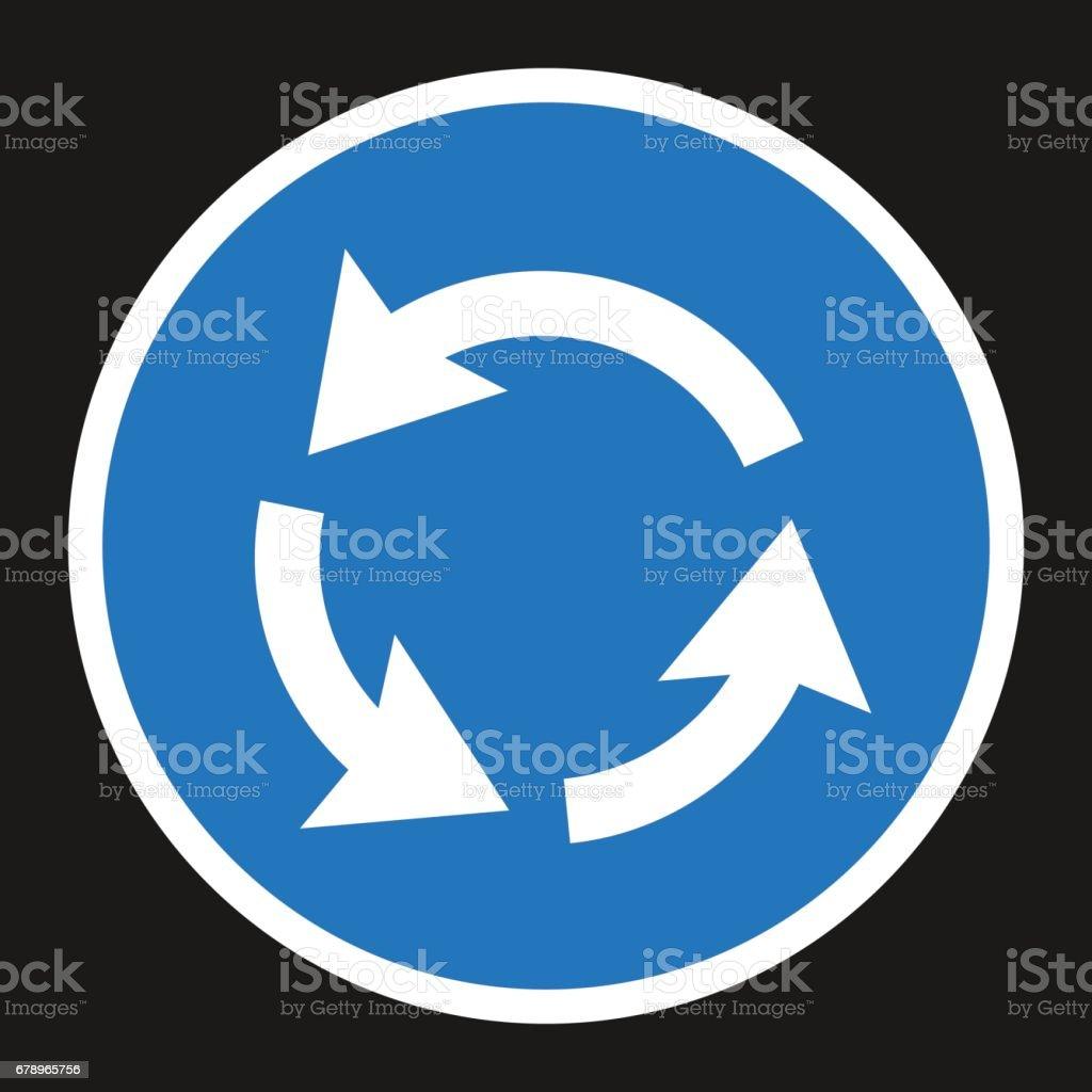 Rond point icône plate signe de Circulation rond point icône plate signe de circulation – cliparts vectoriels et plus d'images de azerbaïdjan libre de droits
