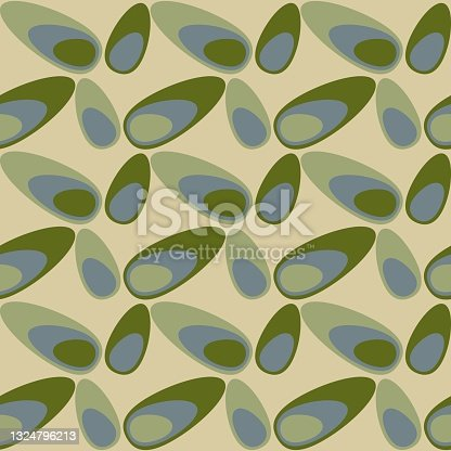 istock Rounded abstract seamless pattern - retro accent for any surfaces. 1324796213