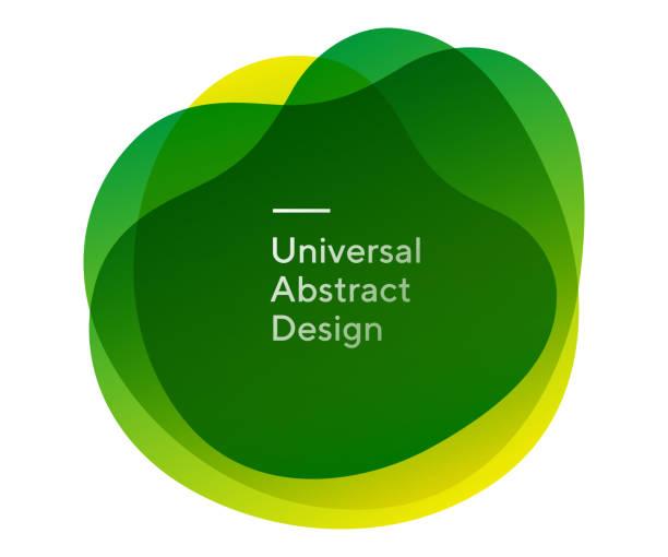 둥근 창조적 인 추상적 인 모양 형태 - 샘플 텍스트 stock illustrations