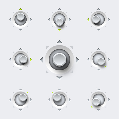 Rounded eight - way position joystick design