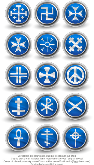 Rounded religion cross set. Part 1