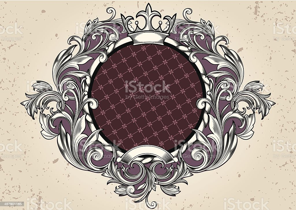 Rounded retro emblem royalty-free stock vector art