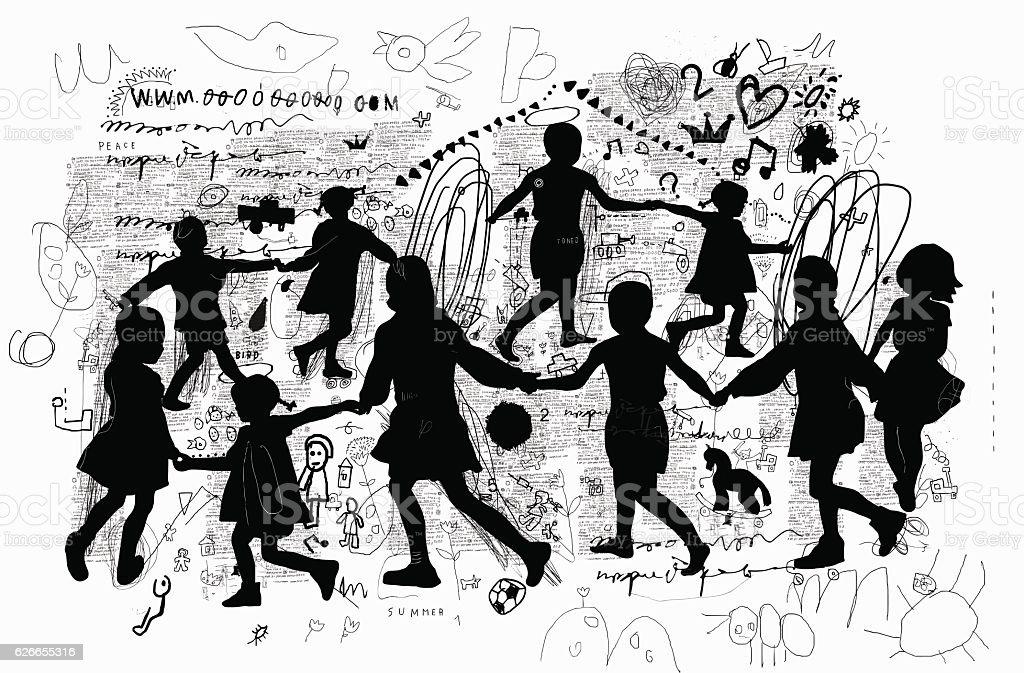 Roundelay - ilustração de arte em vetor