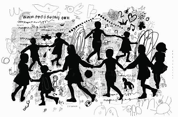 roundelay - kindersprüche stock-grafiken, -clipart, -cartoons und -symbole