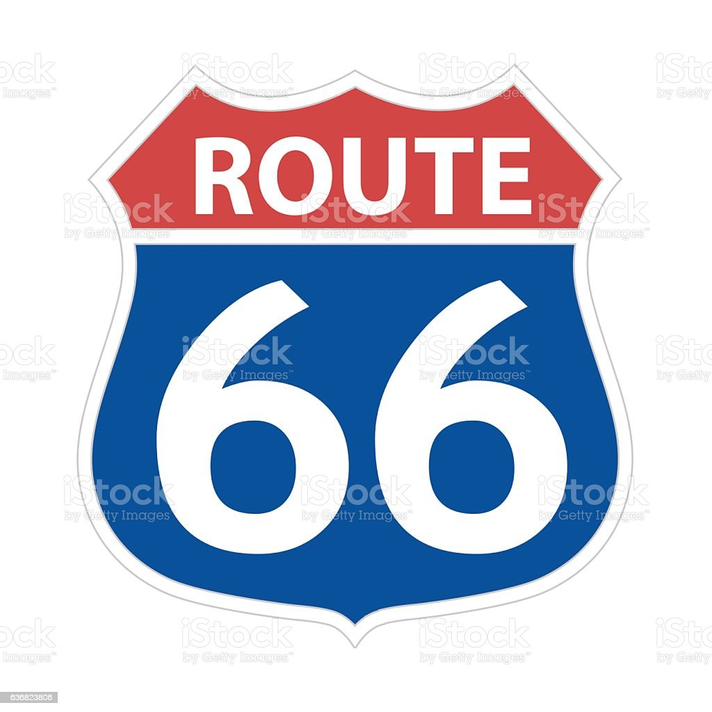 royalty free route 66 clip art vector images illustrations istock rh istockphoto com route 66 clip art free route 66 sign clipart free