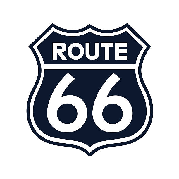 Royalty Free Route 66 Sign Clip Art Vector Images Illustrations