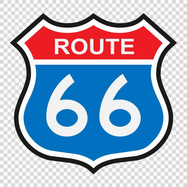 U.S. route 66 muestra - ilustración de arte vectorial