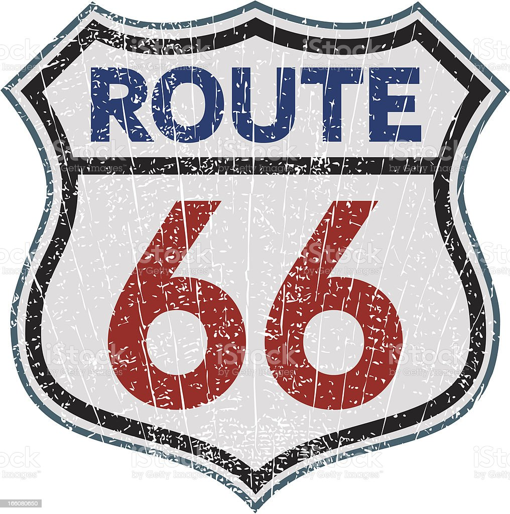Route 66 sign royalty-free stock vector art