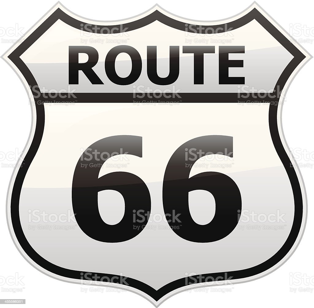 Route 66 Sign royalty-free route 66 sign stock vector art & more images of american culture