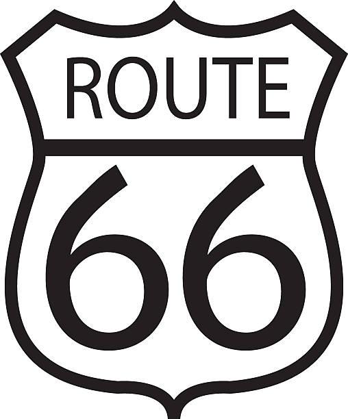 stockillustraties, clipart, cartoons en iconen met route 66 - vector - arizona highway signs