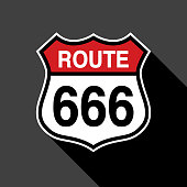 Route 666 Sign