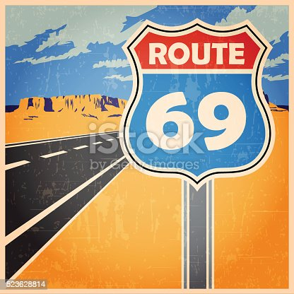 stylized vector illustration on the theme of road, transportation and travel