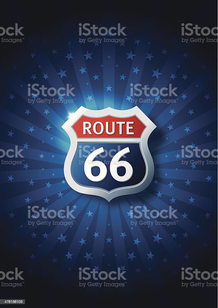 Route Sign royalty-free stock vector art