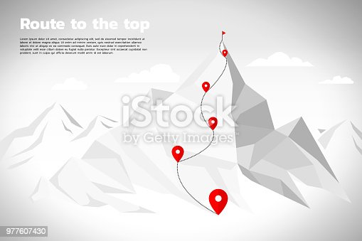 Key visual of path for climbing to top of mountain, represent career success