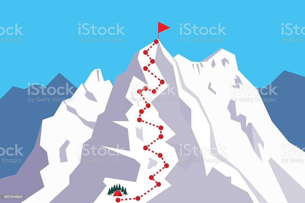 Route to the Top vector art illustration