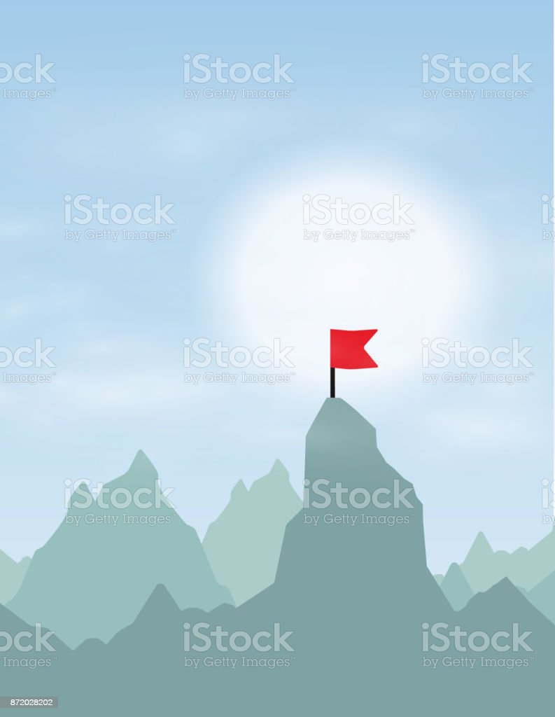 Route to the Top.Career growth.Goal achieving concept.Vector illustration vector art illustration