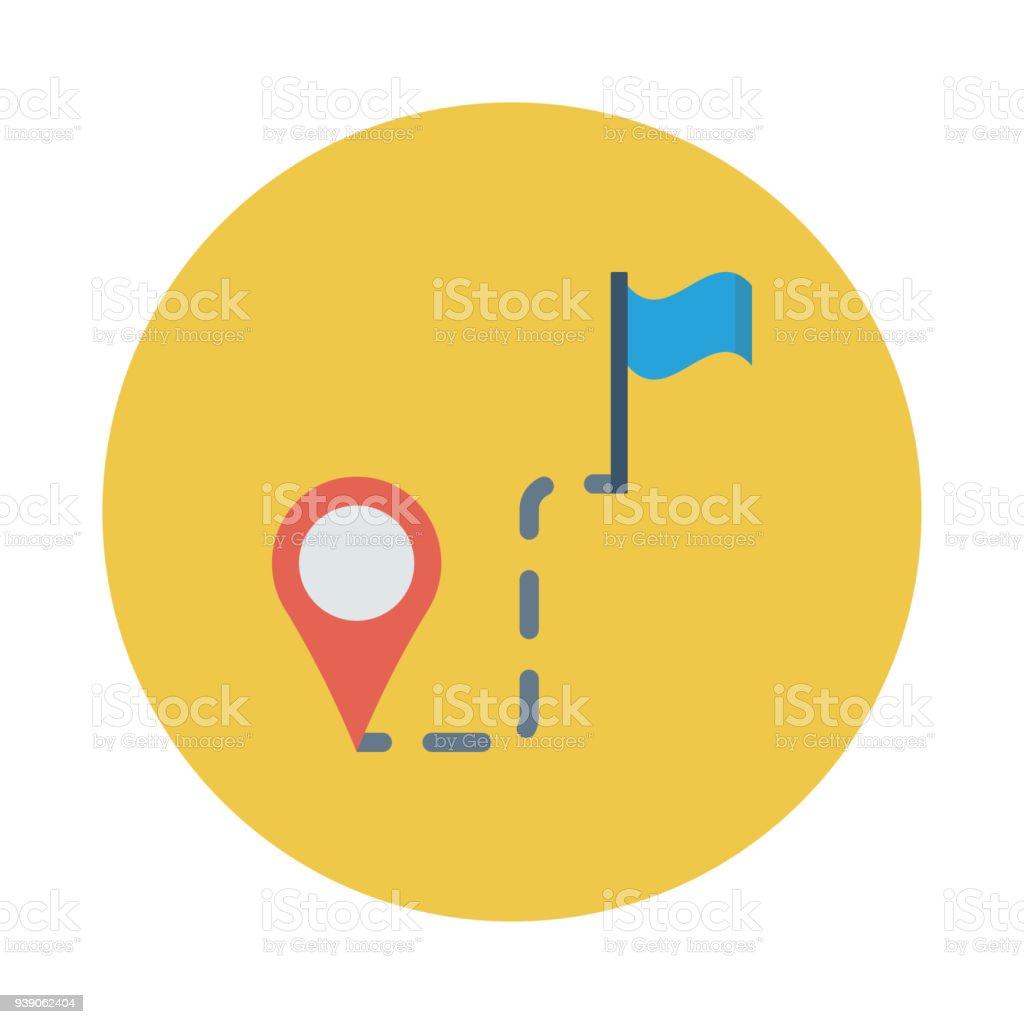 route vector art illustration