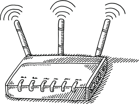 WLAN Router Drawing