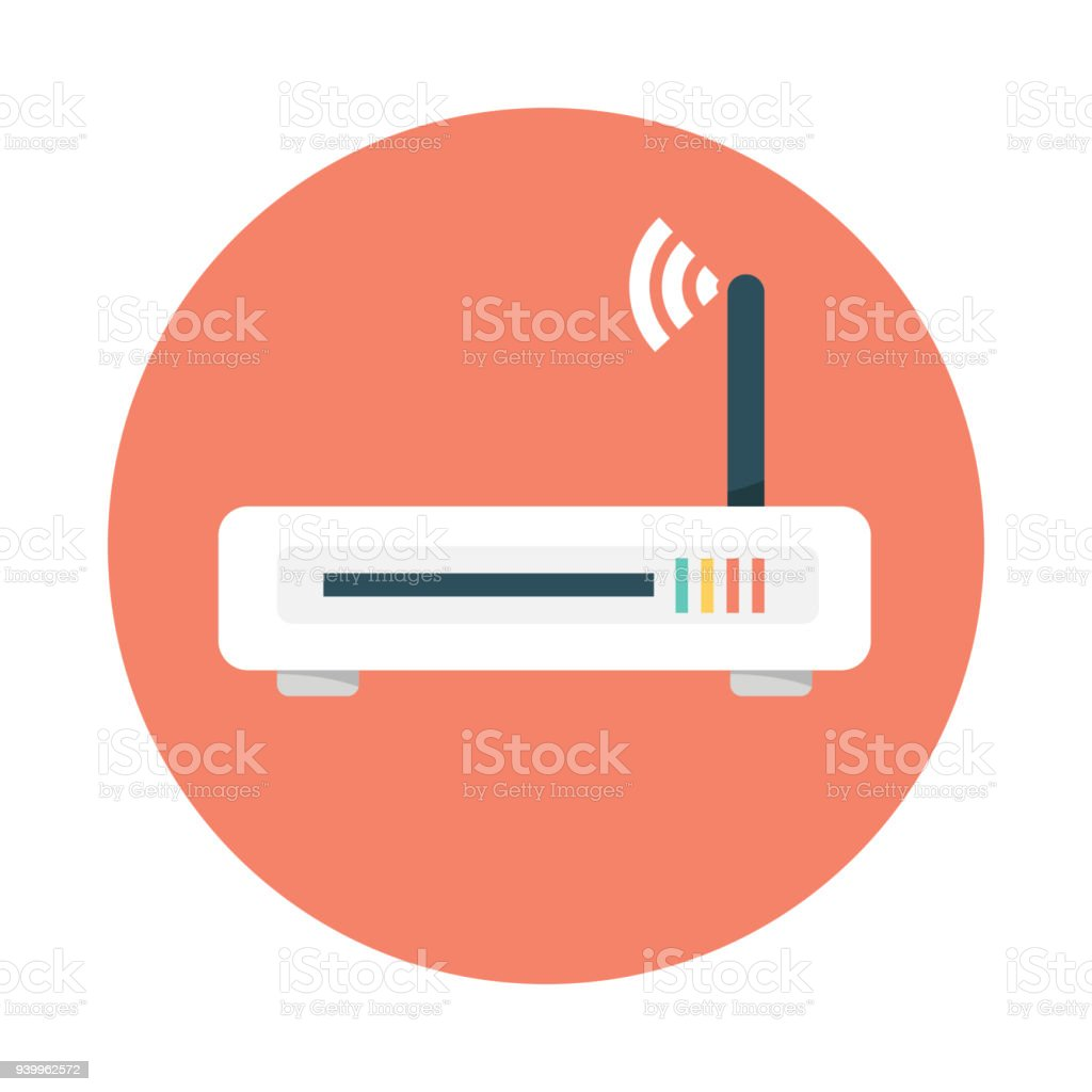 Router Flat Icon Vector Router Router And Signal Symbol Wifi Router