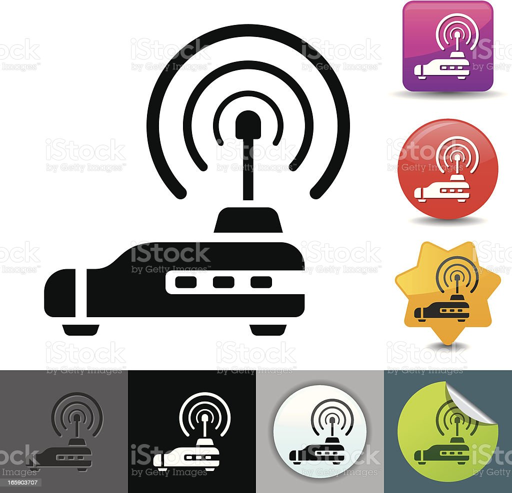 Router icon   solicosi series royalty-free stock vector art