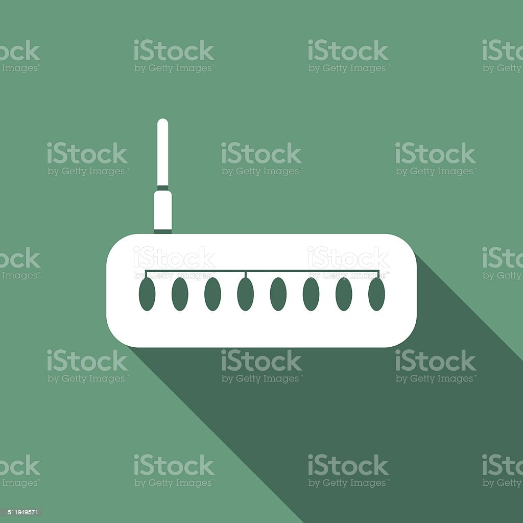router Icon vector art illustration