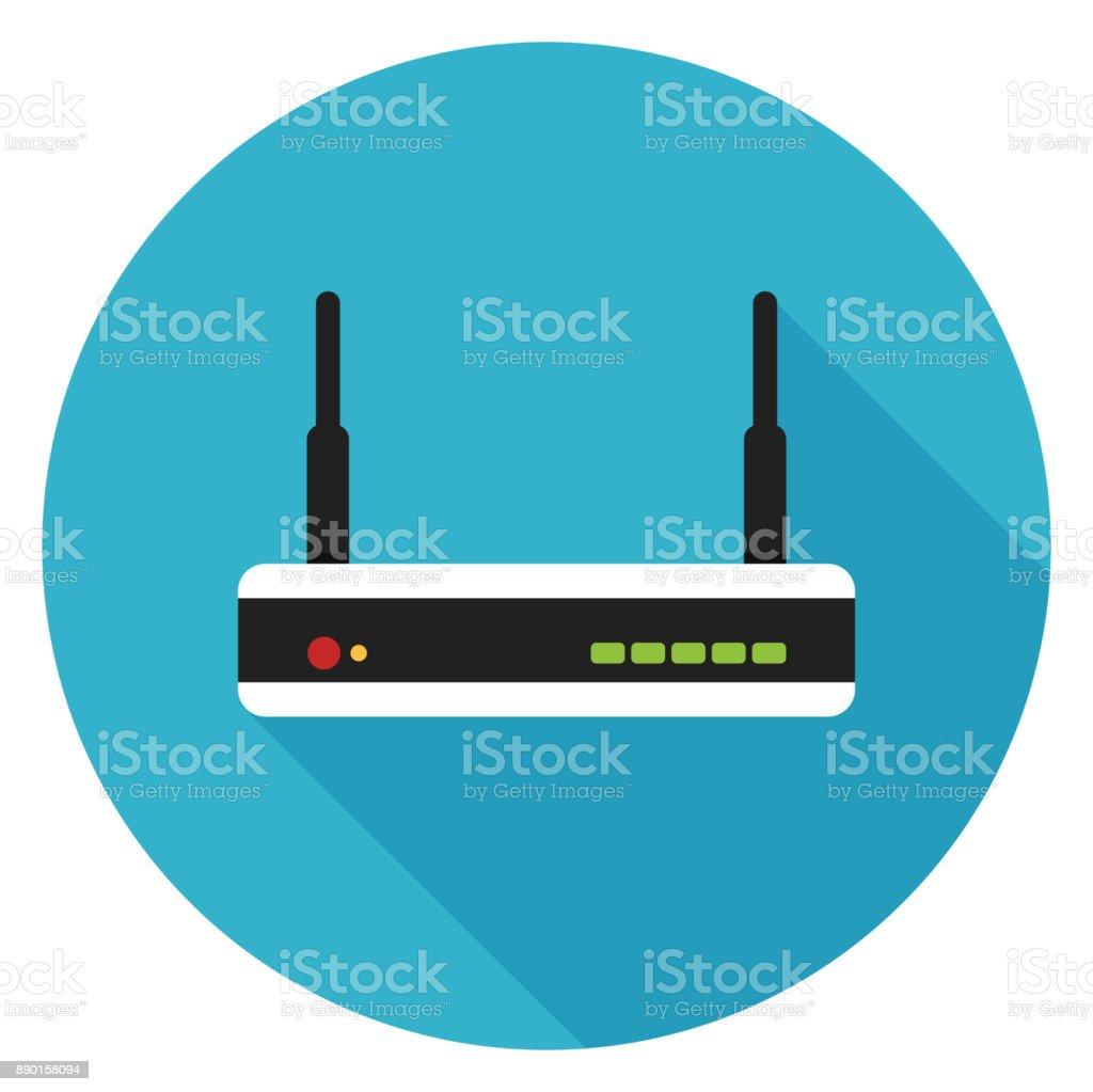 Router icon. vector art illustration