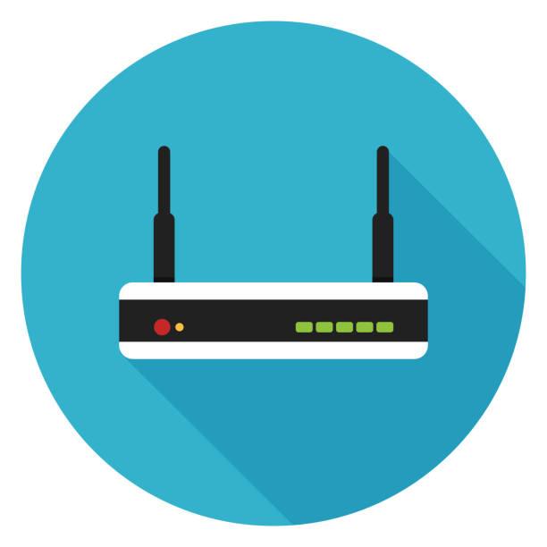 stockillustraties, clipart, cartoons en iconen met pictogram van de router. - router
